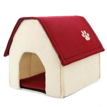 Harga 2017 New Arrival Dog Bed Soft Dog House Daily Products For PetsCats Dogs Home Shape 2 Color Red Green (Red)