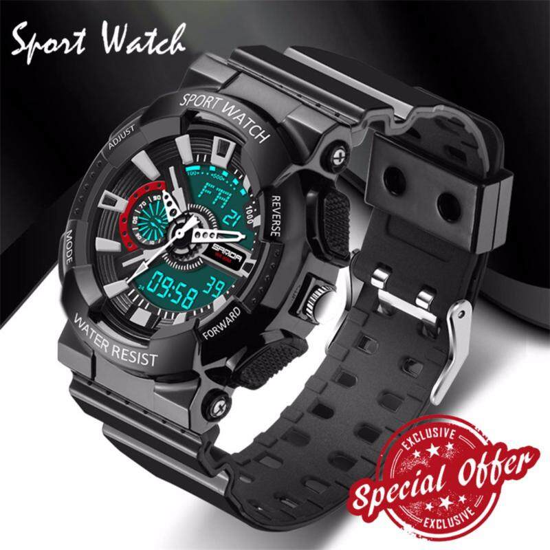 2017 New Watch Men G Style Waterproof Sports Military Watches S Shock Fashion LED Digital Watch Men(black) Malaysia
