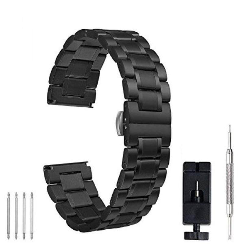 22mm 20mm Watch Band, PluWatch Quick Release Premium Solid Stainless Steel Metal Business Replacement Bracelet Strap for Mens Womens Watch Malaysia