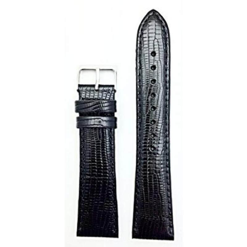 22mm Black Tail Lizard Grain, Lightly Padded Watchband Malaysia