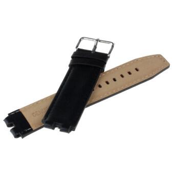 22mm Leather Strap Wrist Watch Steel Buckle Strap Band for PebbleSmartwatch Black - 3