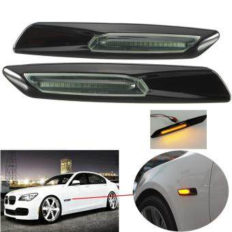Harga 281662574962 Amber LED Side Marker For BMW E60 E82 E83 E88 E90 E91Smoke Lens F10 Style Black
