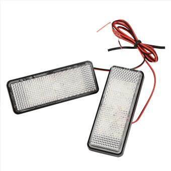 2Pcs LED Rectangle Strobe Reflector Motorcycle Car Tail Brake TurnSignal Light Lamp Red .