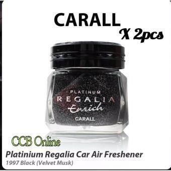 2x Carall Regalia Enrich Platinum Velvet Musk 1997 Black Lid Air Freshener 85ML