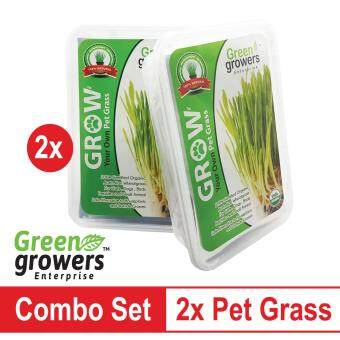 2x Green Growers Pet Grass - Self Grow Kit