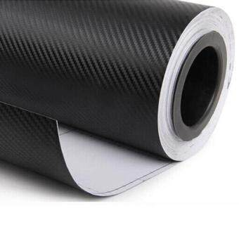 300cmX60cm 3D carbon fiber vinyl film/ carbon fibre sticker blackcolor option car sticker 3D carbon wrap - 3