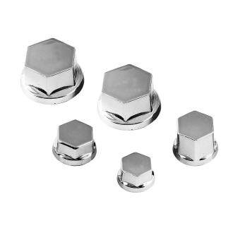 Harga 30Pcs Motorcycle Motorbike Screw Nut Bolt Cap Cover Decoration ForYamaha Kawasaki Honda(Silver)