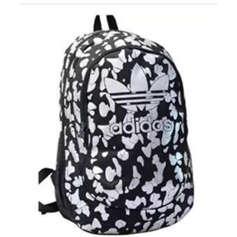 "\""Adidas\"" Floral Cool Style School Backpacks Laptop Backpack Should Bag Travel Bag"