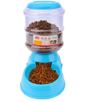 3.5L Automatic Pet Food Feeder Dispenser Dog Cat - Blue