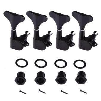 360DSC 4 Strings Alloy Electric Bass Full Closed Tuning Peg Tuners Machine Heads 4Pcs Right Side - Black