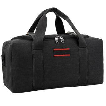 360DSC Large Capacity Canvas Travel Bag Men Crossbody Bag Handbag Luggage Bag - Black S