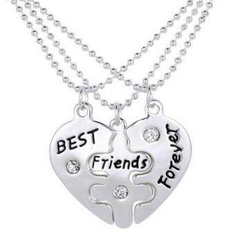 Harga 3PCS Friend Forever Friendship Sign Lucky Pendant Necklace