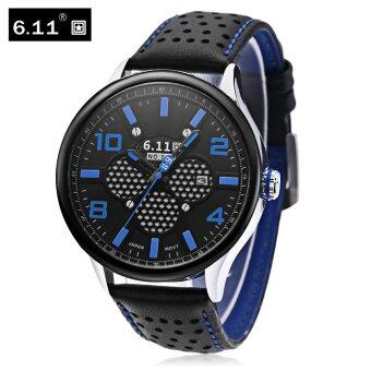 6.11 NO - 008 Men Photovoltaic Solar Energy Quartz Watch Mineral Reinforced Glass Calendar Wristwatch