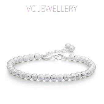 Harga 925 Silver Plated Beads Bracelet