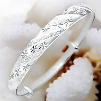 999 fine silver genuine silver-plated bracelet female sterlingsilver to send mother stars silver bracelet opening bracelet