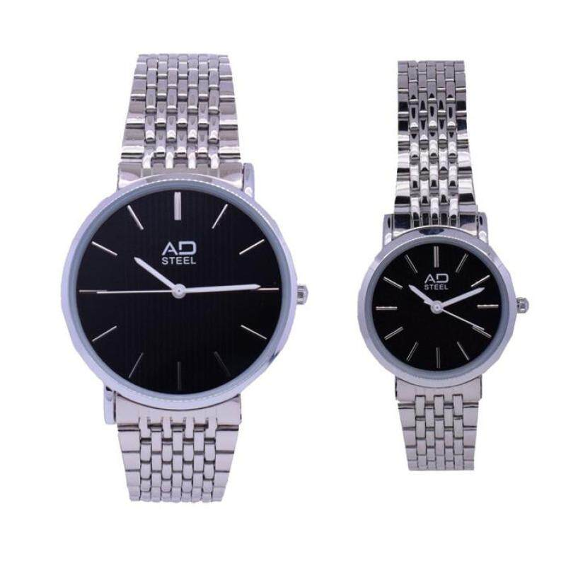 AD Steel Deluxe Stainless Steel Couple Watch 2pcs Set (AD522SL1A-0102) Malaysia