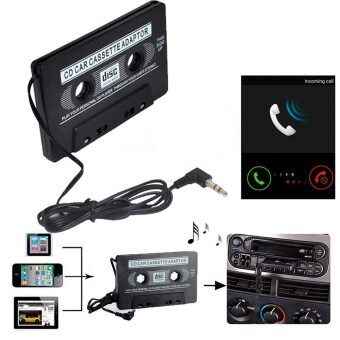 Harga Adapter Car Audio Cassette Casette Tape 3.5mm AUX Audio For MP4 CDIpod iPhone