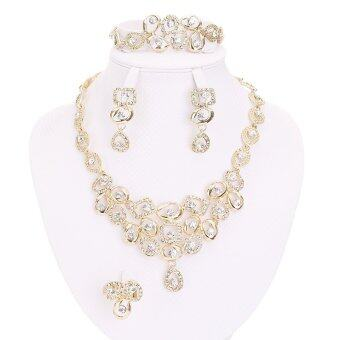 African Beads Jewelry Sets For Women Party Bridal Fine Crystal