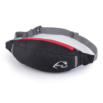 Allwin Travel Bag Waist Pouch Fanny Pack Purse Belt Hiking HandyZip Sport Running Black