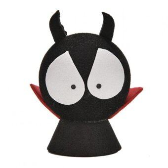 Amango Red Shirt Devil Antenna Topper Eva Decorative Car TopperBalls Black