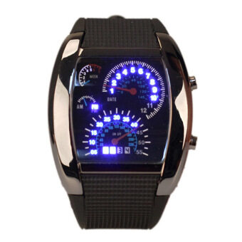 Amart Sports LED Backlight Military Digital Quartz Wrist Watch (Black) - Intl