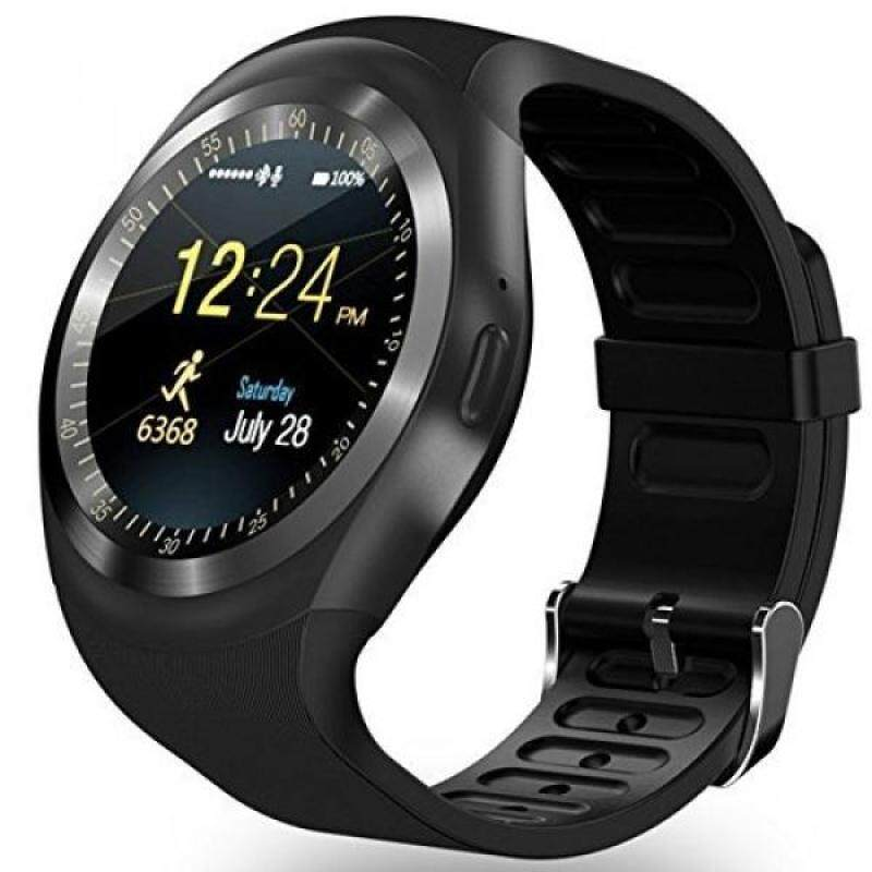 AMENON Bluetooth Smart Watch Wristwatch,Classical IPS Round Touch Screen Water Resistant Smartwatch Cellphone with SIM TF Card Slot Pedometer Fitness Tracker for Android Smart Phones (black) Malaysia