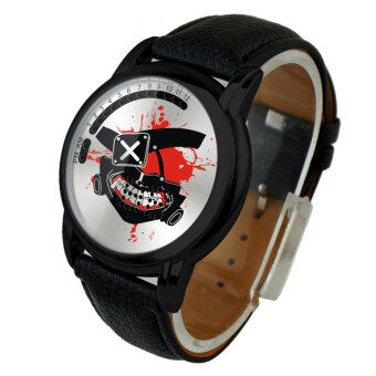 Harga Anime LED Touching Screen Waterproof 100M Boys' Fashion Watches(Color:Ghoul Jin Muyan)