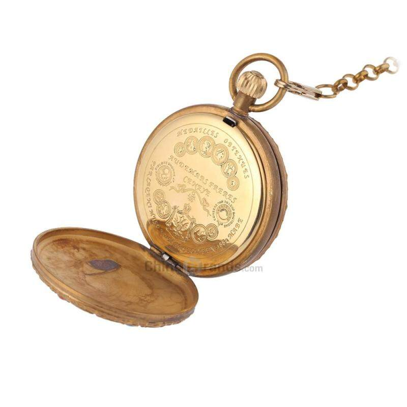 Antique Mechanical Hand Wind Pocket Watch Double Open Covers Roman Working Sub-dial Tourbillon Necklace Wristwatch Malaysia