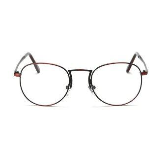 AORON Brand Retro Reading Glasses Anti-fatigue Computers GlassesAnti-blue Light Eyeglasses 1001(Red Wine) - 2