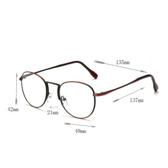 AORON Brand Retro Reading Glasses Anti-fatigue Computers GlassesAnti-blue Light Eyeglasses 1001(Red Wine) - 3
