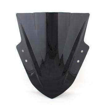 Harga Areyourshop Windshield WindScreen Double Bubble For Kawasaki Ninja300 EX300 2013-2015 Black