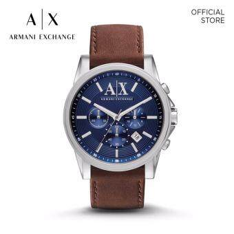 ARMANI EXCHANGE DARK BROWN STAINLESS STEEL WATCH
