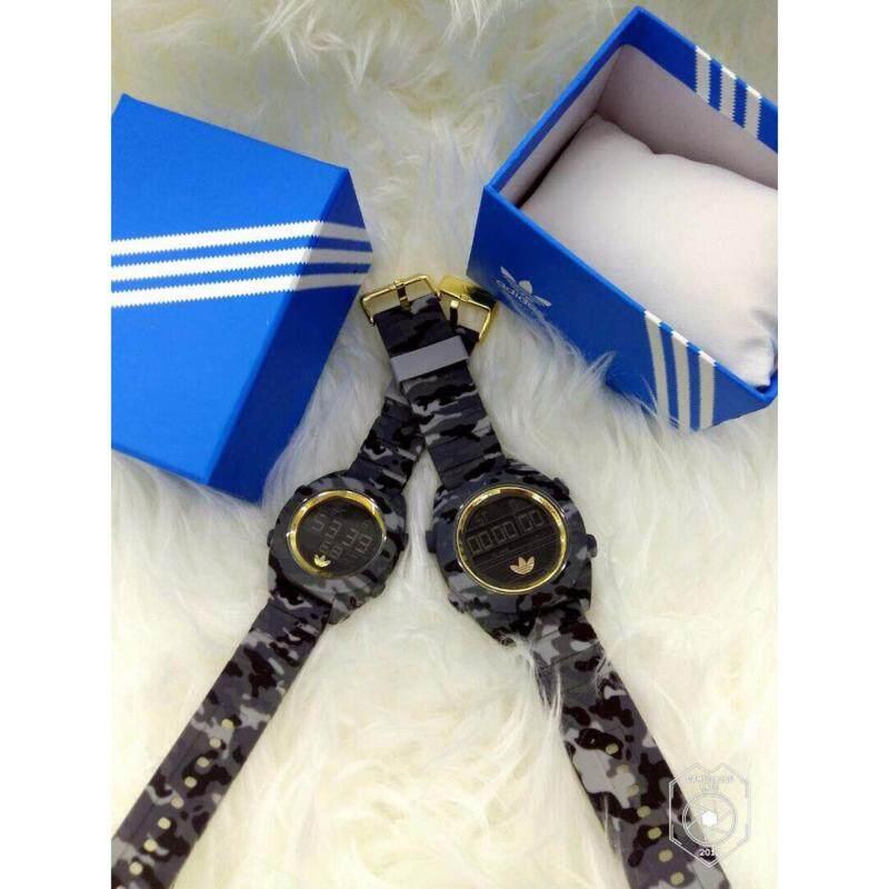 [Army Pattern] Black + Gold Couple Watch Adidas Malaysia