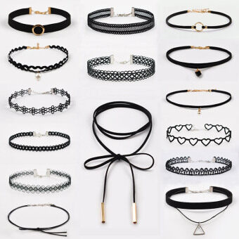 Harga Article 15 choker collar necklace korean jewelry neck neck strap sexy lace neck chain clavicle chain necklace female