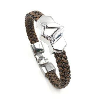 Harga Assassin's Creed Bracelet Leather Wristband Fashion Jewelry Souvenirs Gifts