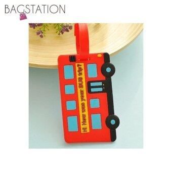 Harga Assorted designs Soft PVC Luggage Tag (Red Bus)