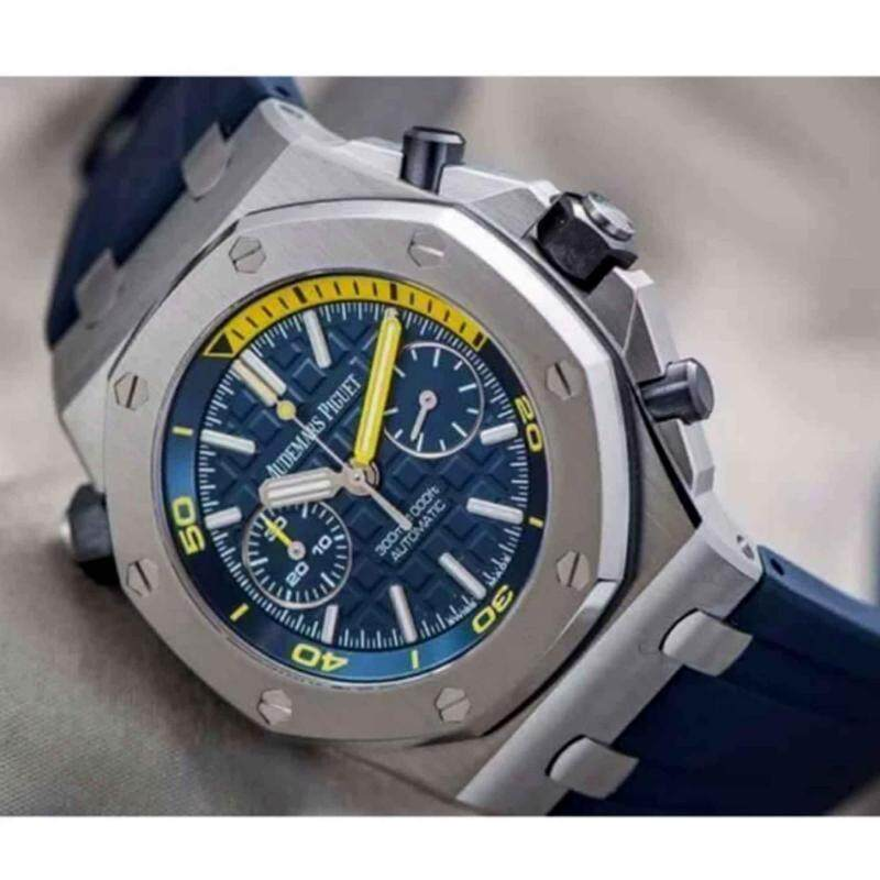 Audemars Piguet Blue Silver Fancy Chonograph Automatic Watch Malaysia