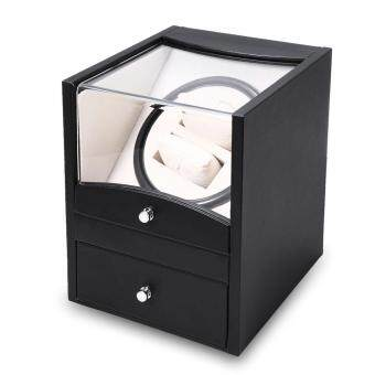 Auto Watch Winder Cuboid Shape Wristwatch Display Box JewelryStorage Case with Drawer