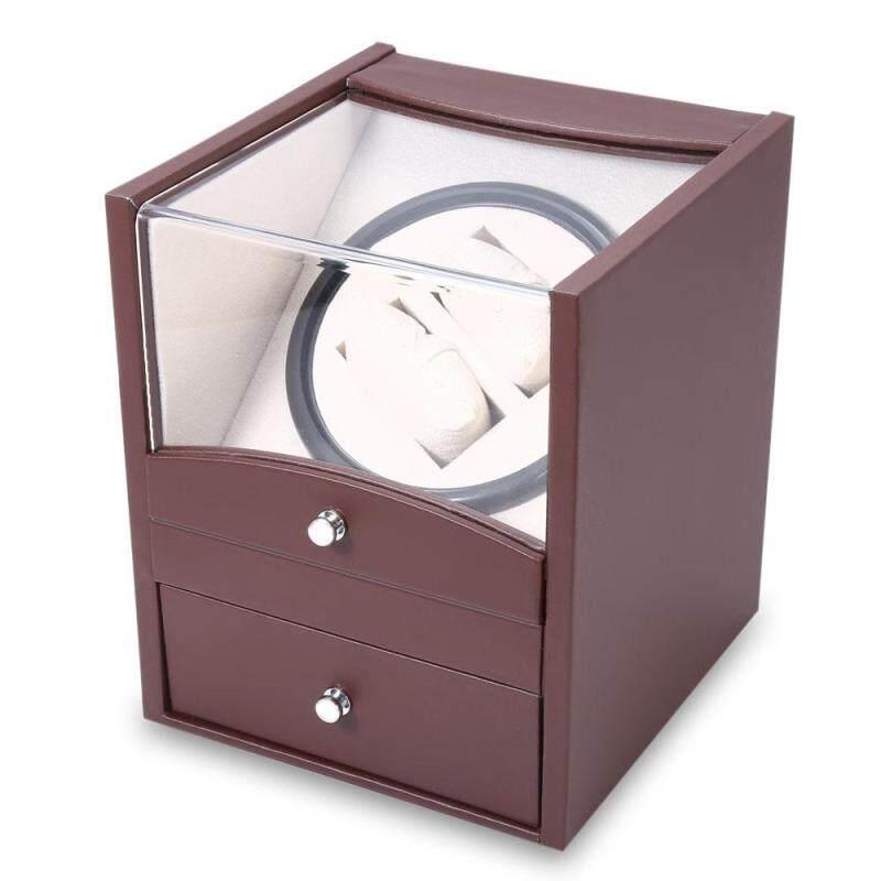 Auto Watch Winder Cuboid Shape Wristwatch Display Box Jewelry Storage Case with Drawer Malaysia