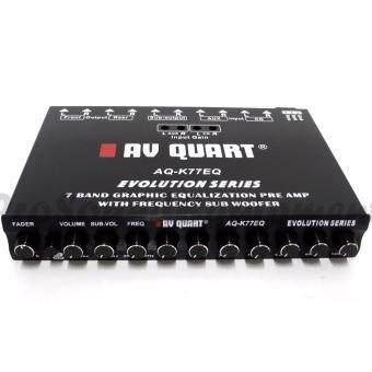 AV QUART AQ-K77EQ 7 BAND GRAPHIC PRE AMP PARAMETRIC EQUALIZER WITHFREQUENCY SUBWOOFER CAR AUDIO SYSTEM