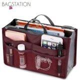 BAGSTATIONZ Premium Lightweight And Water-Resistant Multi-Compartment Bag-In-Bag Organizer (Maroon)