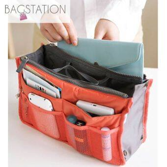 Harga BAGSTATIONZ Premium Lightweight And Water-ResistantMulti-Compartment Bag-In-Bag Organizer (Orange)