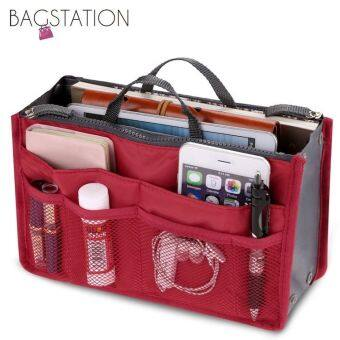 Harga BAGSTATIONZ Premium Lightweight And Water-ResistantMulti-Compartment Bag-In-Bag Organizer (Red)