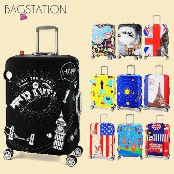 Harga BAGSTATIONZ PREMIUM VERSION Stretchable Travel Luggage ProtectiveCover (Happy Travel)