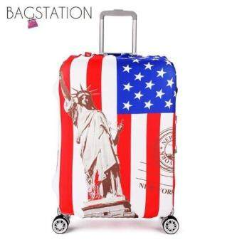 Harga BAGSTATIONZ PREMIUM VERSION Stretchable Travel Luggage ProtectiveCover (Liberty)