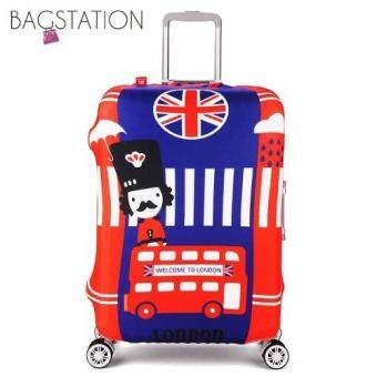 Harga BAGSTATIONZ PREMIUM VERSION Stretchable Travel Luggage ProtectiveCover (London Bus)