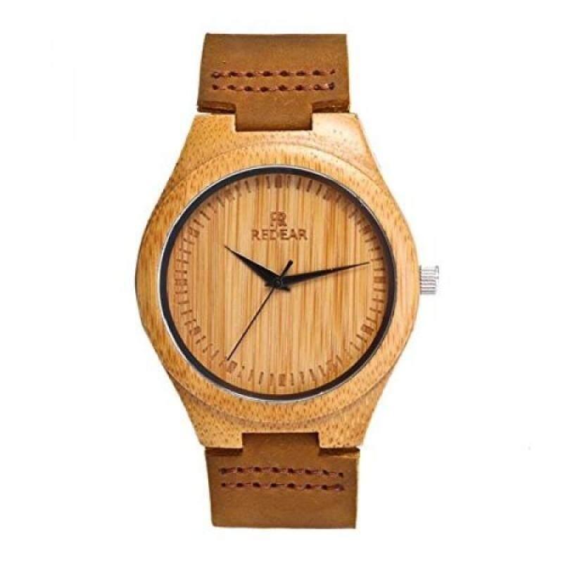 Bamboo Wooden Watch with Genuine Leather Strap Japanese Quartz Movement Malaysia