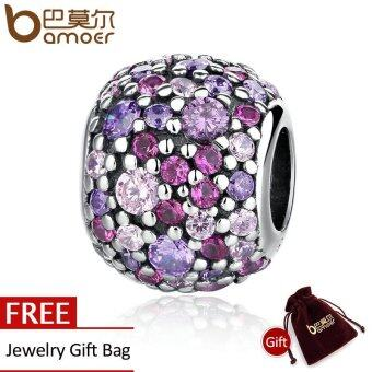 Harga BAMOER 100% 925 Sterling Silver Colorful Beads Charm Charms fit BMEBracelets for Women pulsera Fine Jewelry PAS335