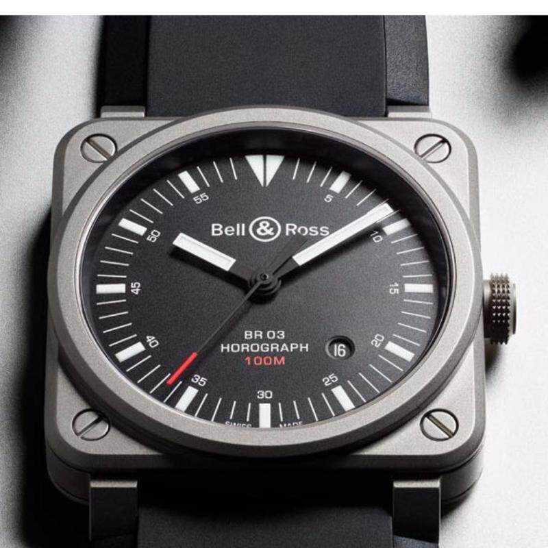 Bell and Ross BR03-92 Horograph Black Watch Malaysia