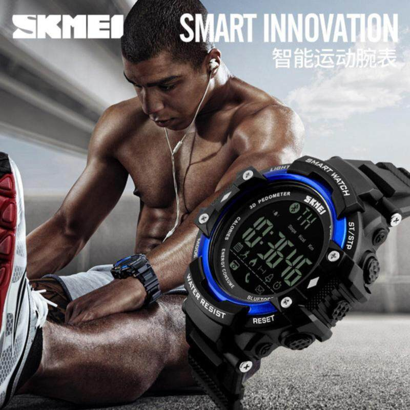 BEST SELLER Man Smart Watch Android IOS Bluetooth Calorie Pedometer Sport Blue Malaysia